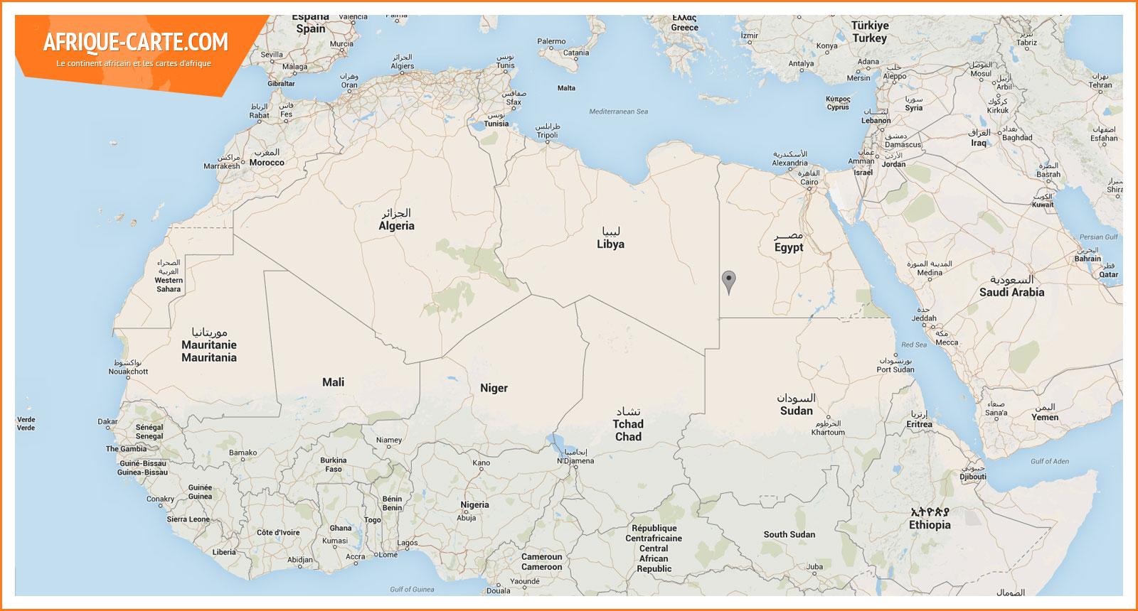 carte afrique nord geographie